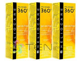 ヘリオケア360°ジェルオイルフリー(Heliocare360GelOil-Free)SPF50 3ボトル(50ml×3)(スペイン製/国際ヤマト)