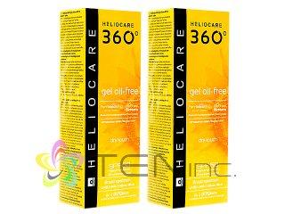 ヘリオケア360°ジェルオイルフリー(Heliocare360GelOil-Free)SPF50 2ボトル(50ml×2)(スペイン製/国際書留)