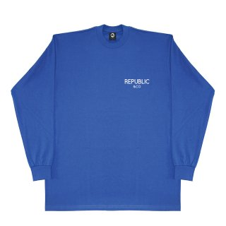 SQUARE L/S TEE ROYAL