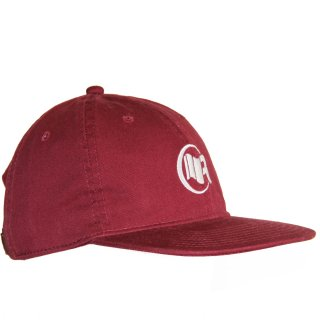 6PANEL FLAT CAP BURGUNDY