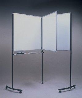スイングホワイトボード☆コンパクトに収納!900mm×900mmのホワイトボード3枚