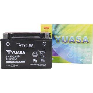 【新品保証付&激安】台湾ユアサ バイクバッテリー(液別密閉) TYTX9-BS