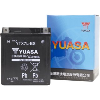 【新品保証付&激安】台湾ユアサ バイクバッテリー(液別密閉) TYTX7L-BS
