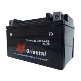 【新品 格安 高品質 低コスト】 バイク用バッテリー oriental ZTX7A-BS(完全密閉)