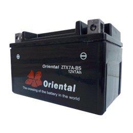 【新品 格安 高品質 低コスト】 バイク用バッテリー oriental ZTX7A-BS(液別密閉)
