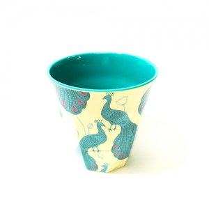 rice メラミンカップ ピーコック