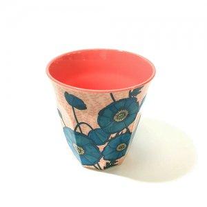 rice メラミンカップ ブルーポピー