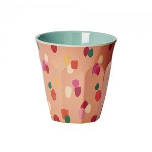 rice メラミンカップ コーラルダッパードット