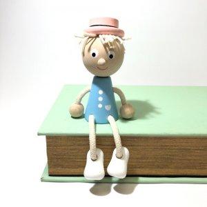 チェコの木の人形 パステルカラー 少年