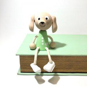 チェコの木の人形 パステルカラー イヌ