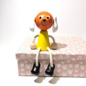 チェコの木の人形カラー イヌ