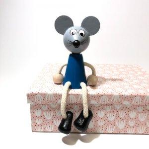 チェコの木の人形カラー ネズミ
