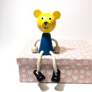 チェコの木の人形カラー きいろのクマ