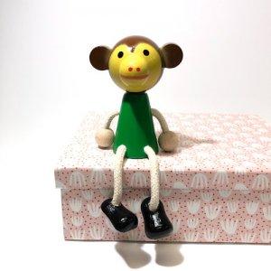 チェコの木の人形カラー サル