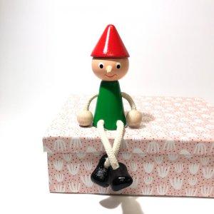 チェコの木の人形カラー ピノキオ