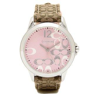 47518e6e5d42 正規品 COACH コーチ シグネチャー SIGNATURE レディース 腕時計 14501621 クォーツ レザー ピンク  価格:19,800円(内税)