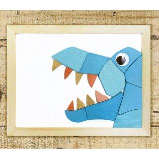 タイルde脳トレ【恐竜編:ティラノサウルス】マグネット; 繰り返し遊べる知育教材