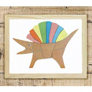 タイルde脳トレ【恐竜編:スピノサウルス】マグネット; 繰り返し遊べる知育教材
