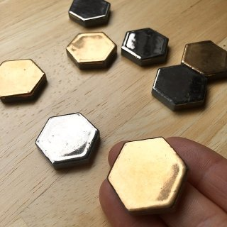 ヘキサゴンタイル金銀(各4枚、計8枚)