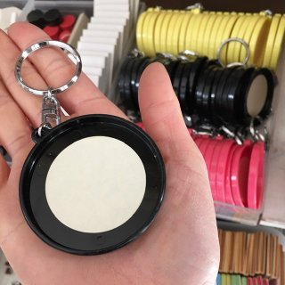DIY用キーホルダー(ブラック・5ヶ)