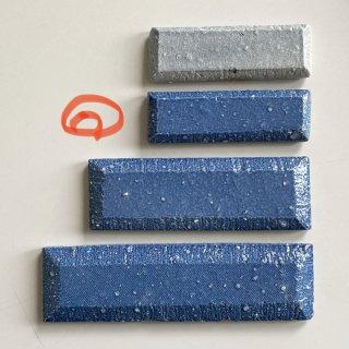 I様専用・デニムタイル(9×3ブルー、文字加工、両面テープ付)