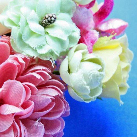 【レトロ 和装】バラ と ポンポンマム が 華やか レトロカラー かんざし【画像8】