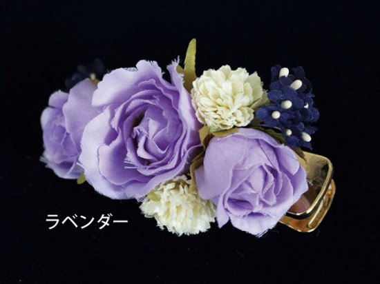 【レトロ 和装】バラと小花のヘアクリップ【画像12】