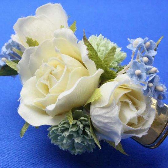 【レトロ 和装】バラと小花のヘアクリップ【画像5】