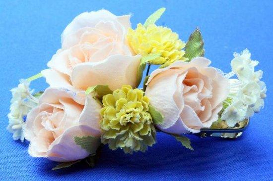 【レトロ 和装】バラと小花のヘアクリップ【画像7】