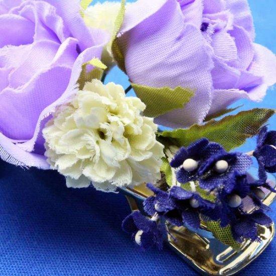【レトロ 和装】バラと小花のヘアクリップ【画像8】