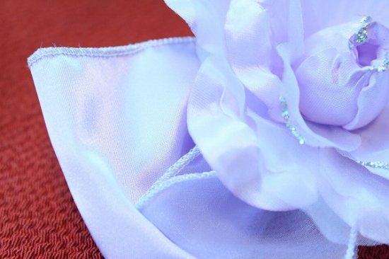 【浴衣 髪飾り】リボンとバラの コンビネーション ヘアクリップ【画像9】