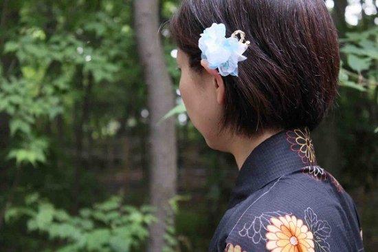 【浴衣に髪飾り】デイジーの花の ダックピン&Uピンセット【画像2】