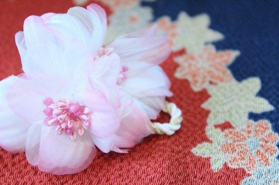 【浴衣に髪飾り】デイジーの花の ダックピン&Uピンセット【画像4】