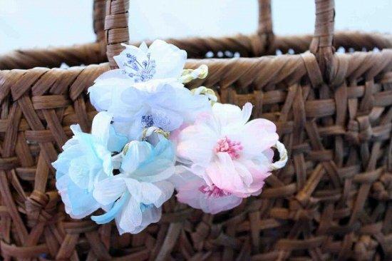 【浴衣に髪飾り】デイジーの花の ダックピン&Uピンセット【画像5】