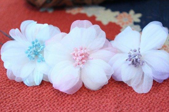 【浴衣に髪飾り】デイジーの花の ダックピン&Uピンセット【画像6】