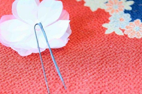 【浴衣に髪飾り】デイジーの花の ダックピン&Uピンセット【画像8】