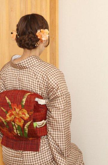 【和装 髪飾り セット】プリムラの花髪飾り かんざし クリップ 2点セット【画像2】