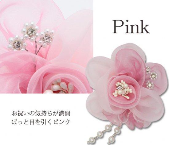 コサージュ,ピンク