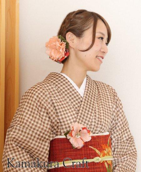 【和装 髪飾り セット】 芍薬の髪飾り 大小 2個セット【画像5】