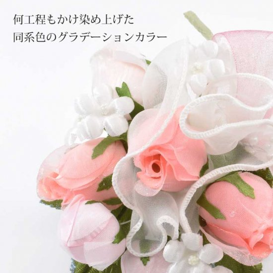 コサージュ フォーマル | バラ つぼみ ブーケ フラワー コサージュ【画像3】