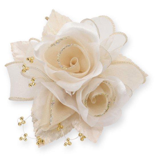 【一番人気】上品巻バラのコサージュ クリップ 付き【画像28】