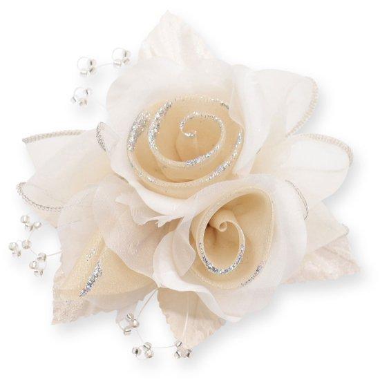 【一番人気】上品巻バラのコサージュ クリップ 付き【画像29】