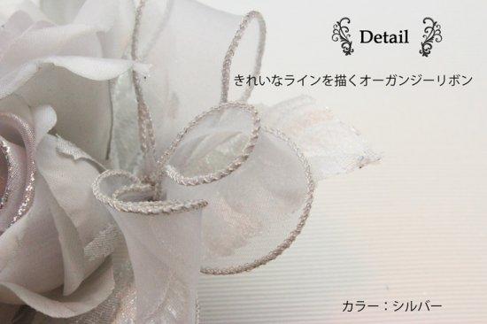 【一番人気】上品巻バラのコサージュ クリップ 付き【画像4】