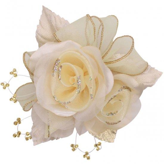 【一番人気】上品巻バラのコサージュ クリップ 付き【画像31】