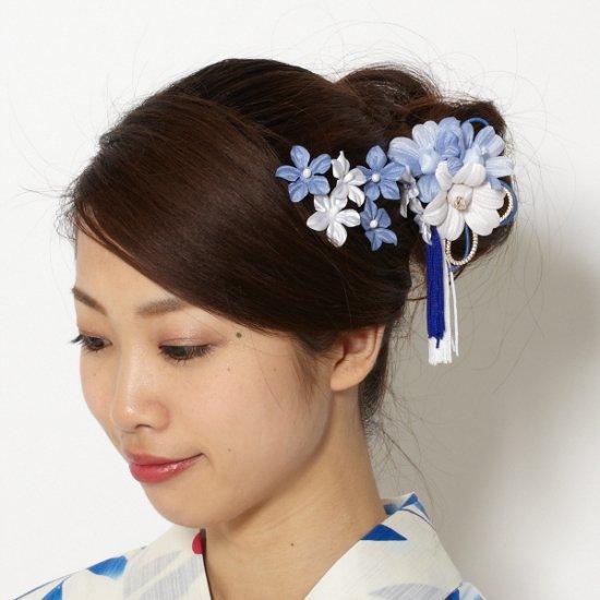 【 和装 髪飾り 6点 セット 】蘭 タッセル クリップ・ 小花 Uピン 5本 セット【画像3】