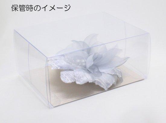 コサージュ クリア 立方体 ケース (透明)Sサイズ