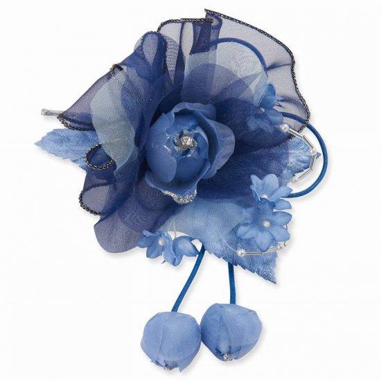 コサージュ | 3弁 バラ の フリル つぼみさがり フォーマルコサージュ クリップ付き【画像12】