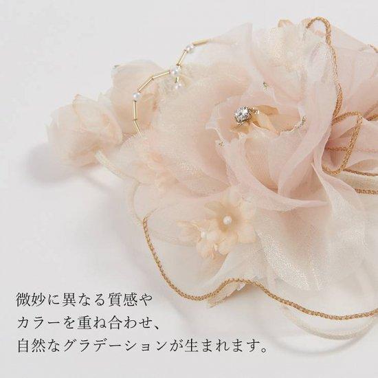 コサージュ | 3弁 バラ の フリル つぼみさがり フォーマルコサージュ クリップ付き【画像5】