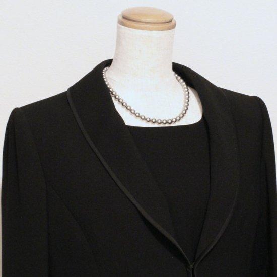 【組み合わせ購入専用商品】貝パール | パール ネックレス イヤリング ブラック 8ミリ珠 2点セット【画像4】