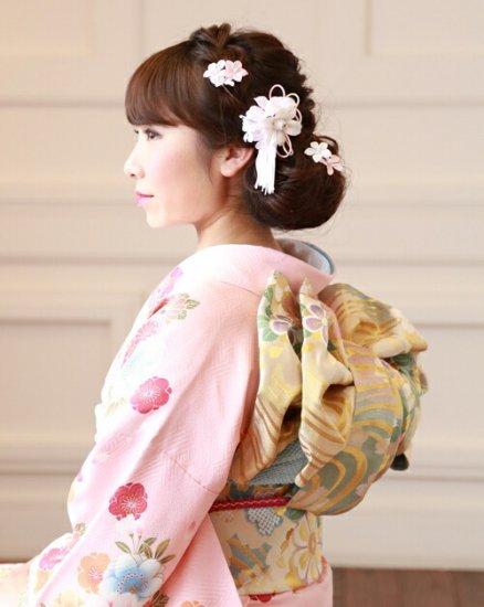 和装 髪飾り セット | 蘭 花びら揺れる 和装髪飾り ヘアクリップ 1点 Uピン 5本 セット【画像2】